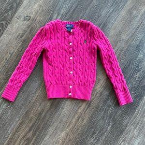 Girls Polo Ralph Lauren Cable Knit Sweater Sz 6